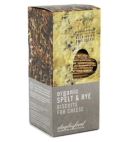 DAYLESFORD Organic spelt & rye biscuits 120g