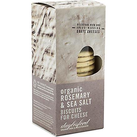 DAYLESFORD Organic rosemary & sea salt biscuits 120g