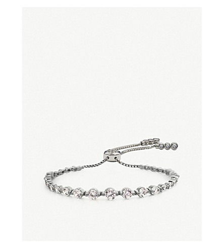 CARAT LONDON Grace sterling silver millennium bracelet (White