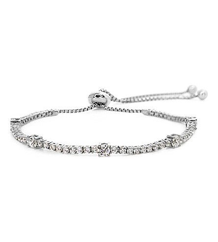 CARAT LONDON Phoebe white gold-plated millennium bracelet (White
