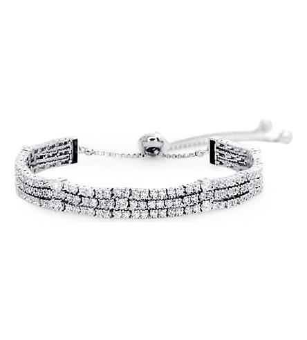 CARAT LONDON Alexis sterling silver millennium bracelet (White