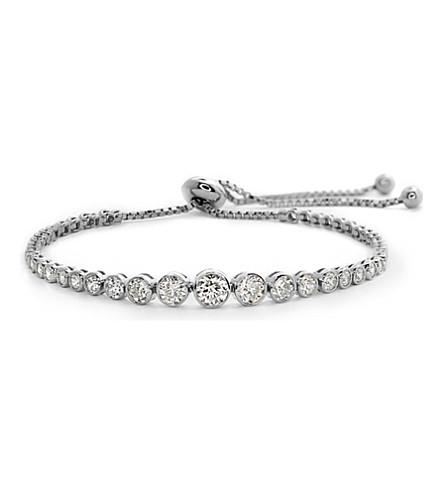 CARAT LONDON Quentin sterling silver millennium bracelet (White