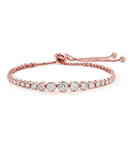 CARAT LONDON Quentin rose-gold plated Millennium bracelet (Rose