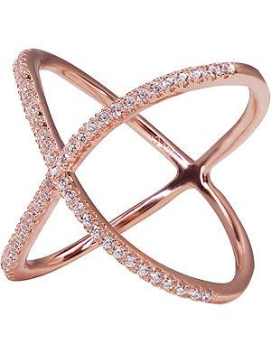 CARAT Crux millennium rose gold finish ring
