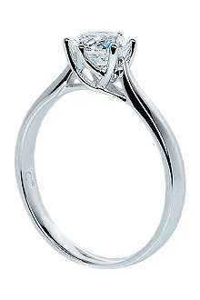 CARAT 3.5kt white gold solitaire ring