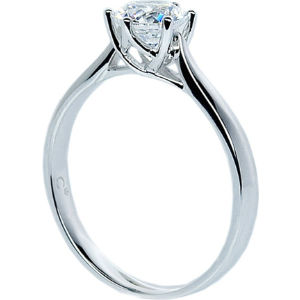 Rosy round 3.5ct solitaire ring