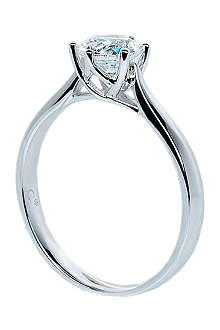 CARAT 0.75kt white gold diamond ring