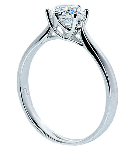 CARAT LONDON Rosy Round 0.75ct solitaire ring (White