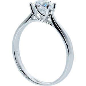 Rosy round 2ct solitaire ring