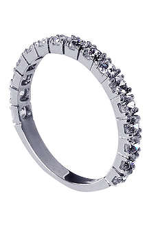 CARAT 9ct white-gold and diamond eternity ring