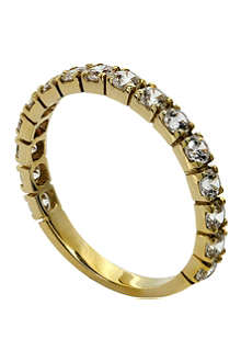 CARAT 9ct yellow-gold and diamond eternity ring