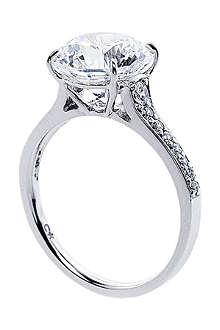 CARAT Elegant round microset 3.5ct solitaire ring