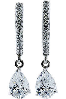 CARAT 1ct classic microset pear drop earrings