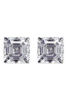 CARAT White gold simulated diamond studs