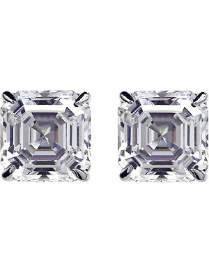 CARAT White gold diamond studs