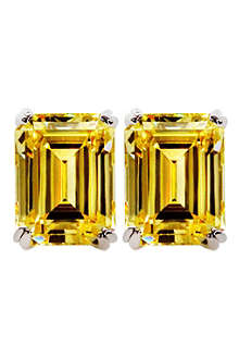 CARAT 1.5ct canary yellow emerald cut studs