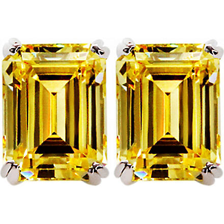 CARAT 1.5ct canary yellow emerald cut studs (Yellow