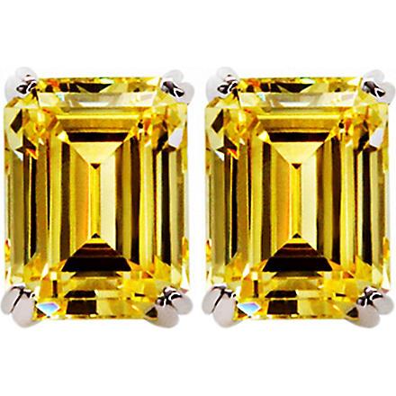 CARAT 1.5ct canary yellow emerald cut studs (Yellow