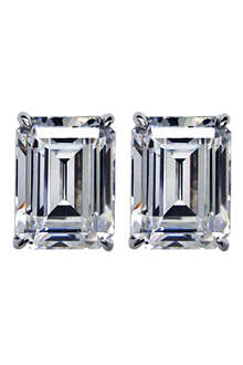 CARAT 1.5ct emerald cut diamond white studs