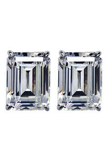 CARAT 1ct emerald cut diamond white studs