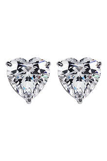 CARAT 0.75ct hearts for you white gold studs