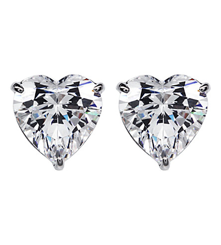 CARAT Hearts For You 0.75ct solitaire stud earrings (White