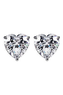 CARAT 1.5ct hearts for you white gold studs