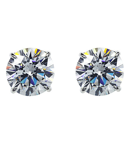 CARAT LONDON Round 0.5ct solitaire stud earrings (White