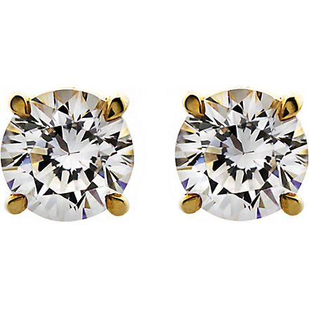 CARAT 0.5ct brilliant cut eternal diamond white studs (Yellow