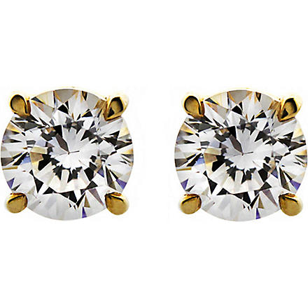 CARAT 1ct brilliant cut eternal diamond white studs (Yellow