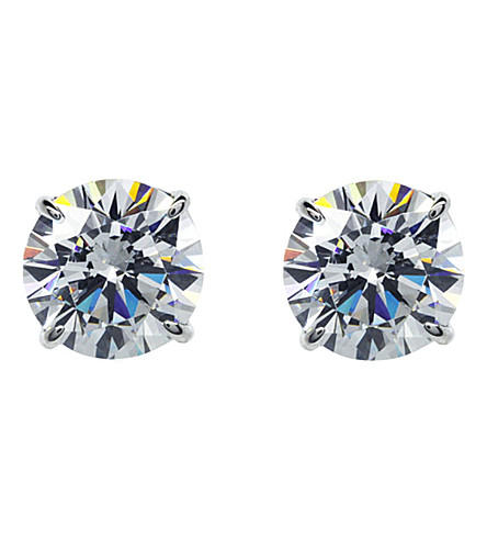 CARAT LONDON Round 1.5ct solitaire stud earrings (White