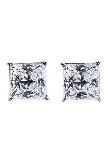 CARAT 0.5ct elegant princess cut studs
