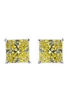 CARAT 1ct simulated diamond yellow studs