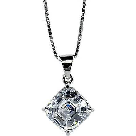 CARAT 0.25ct Asscher cut pendant necklace (White