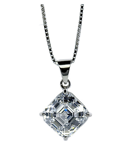CARAT LONDON Asscher 1.25ct solitaire pendant necklace (White