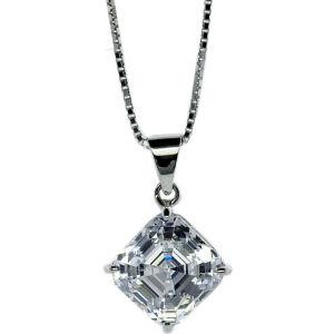 Asscher 1.25ct solitaire pendant necklace