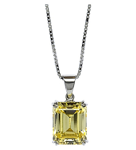CARAT Yellow Emerald 1.5ct solitaire pendant necklace (Yellow