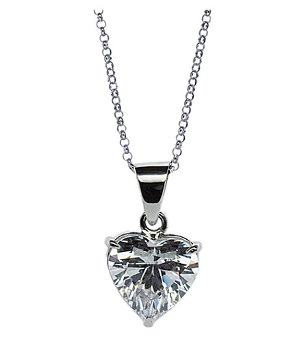 CARAT LONDON Heart 2.5ct solitaire pendant necklace (White