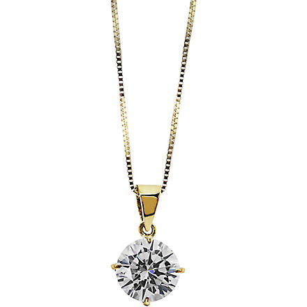 CARAT Round 1ct solitaire pendant necklace (Yellow