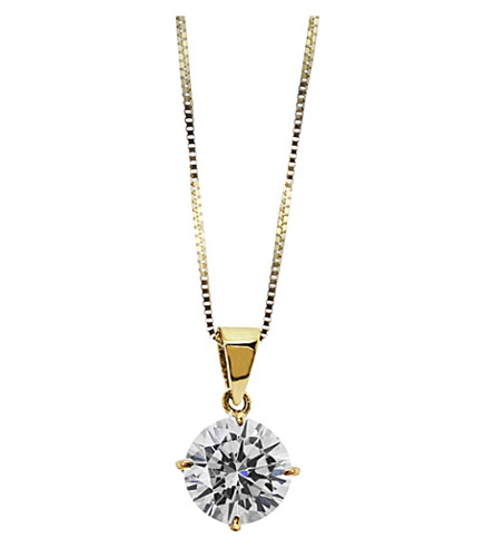 CARAT Round 4 Prongs 1ct solitaire pendant necklace (Yellow