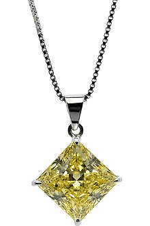 CARAT 1ct canary yellow pendant necklace
