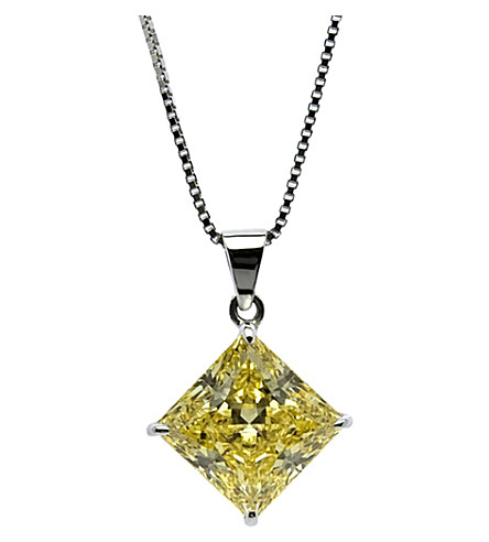 CARAT LONDON Princess 1ct canary yellow pendant (Yellow