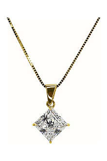 CARAT Princess cut 1ct pendant necklace