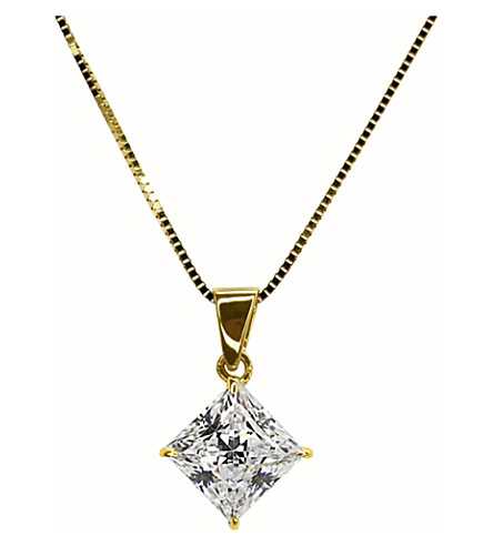 CARAT LONDON Princess 1ct pendant necklace (Yellow