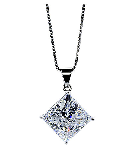 CARAT LONDON Princess 1.25ct pendant necklace (White