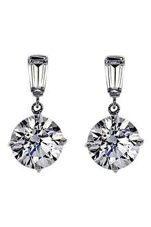CARAT 2ct simulated diamond drop earrings