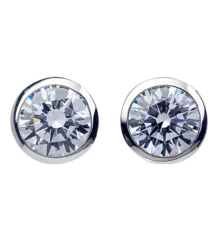 CARAT LONDON Rosie 9ct white gold and 0.45ct solitaire studs