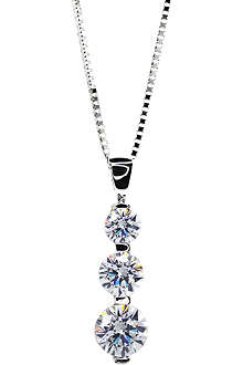 CARAT 3 times round drop pendant necklace