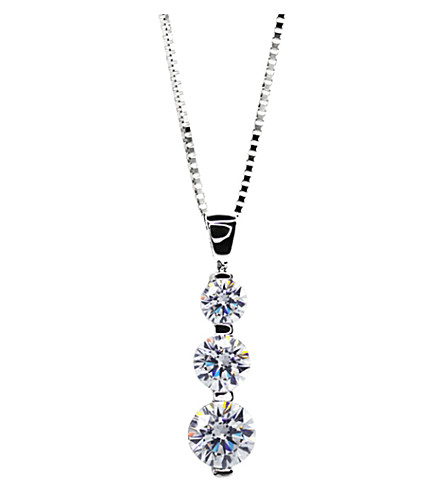 CARAT 3 Times Round drop pendant necklace (White