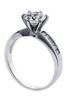 CARAT Channel round 1ct solitaire ring